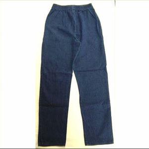Vintage Women's Petite Jeans Size 2 3 4 Pinstripe